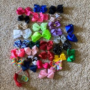LOT 29 bows and 1 headband girls headbows hair bow